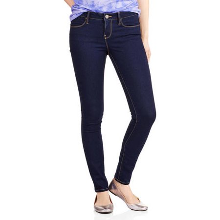 No Boundaries Juniors' Classic Skinny (Classic Distressed Jeans)