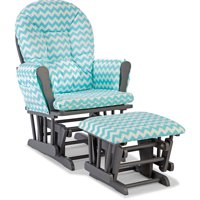 Storkcraft Chevron Hoop Glider and Ottoman, Choose Your Finish and Color