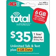 Total Wireless $35 30 Day Plan - Unlimited Talk and Text with 6GB of High Speed Data (Email Delivery) Extra Data Promotion Available**