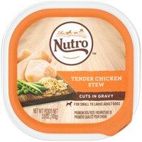 (24 Pack) NUTRO Wet Dog Food Cuts in Gravy Tender Chicken Stew, 3.5 oz. Tray