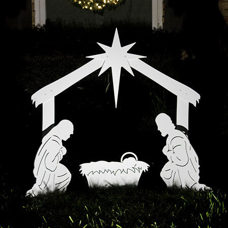 Duly answer Outdoor nativity sets share your