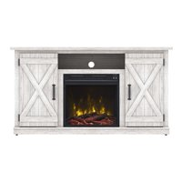 """Terryville White TV Stand for TVs up to 55"""" with Electric Fireplace"""