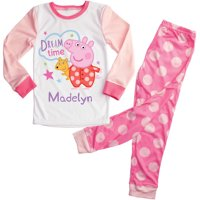 Personalized Dream Time Peppa Pig Toddler Girls Pajamas Set - 2T, 3T, 4T, 5/6T