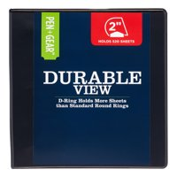 Pen + Gear 2-inch Durable Binder, Clearview Cover, Black
