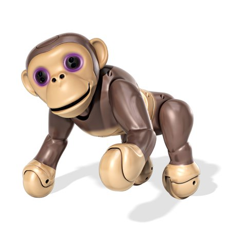 Zoomer Chimp, Interactive Chimp with Voice Command, Movement and Sensors by Spin - Chimp Feet