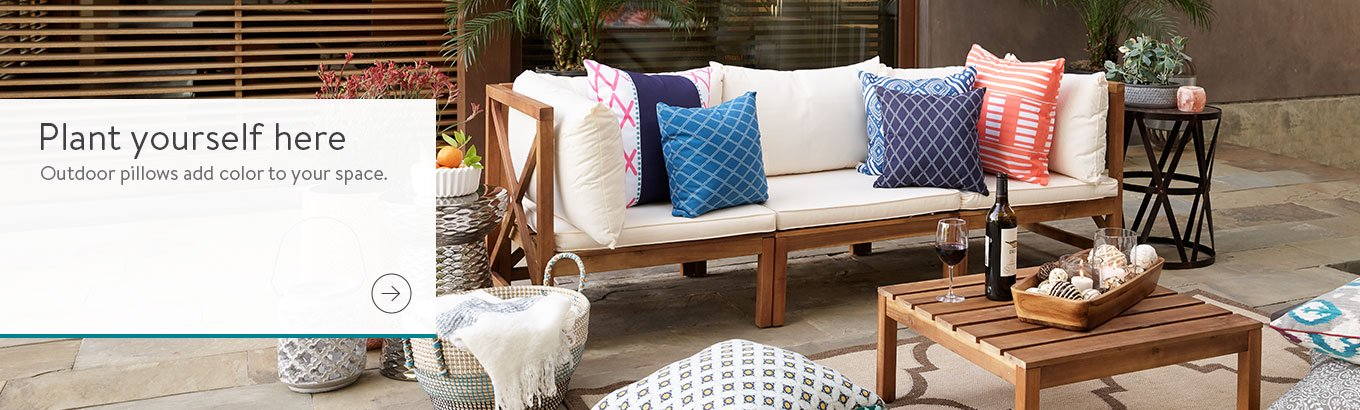 Outdoor Cushions Walmartcom