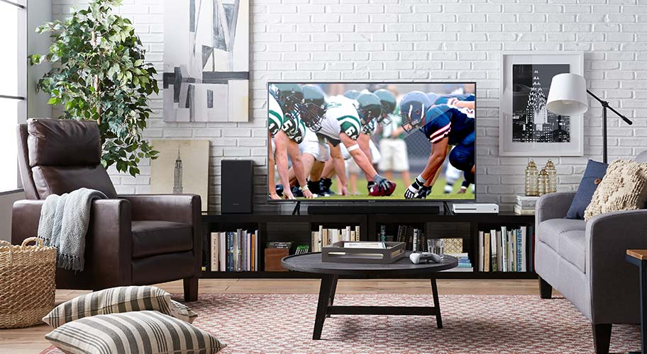 Comfort zone. You'll love having season tickets to your own home with the right setup to watch the game. Pick out a new TV stand and then make room for the whole team with extra chairs and tables to keep snacks and drinks at the ready.