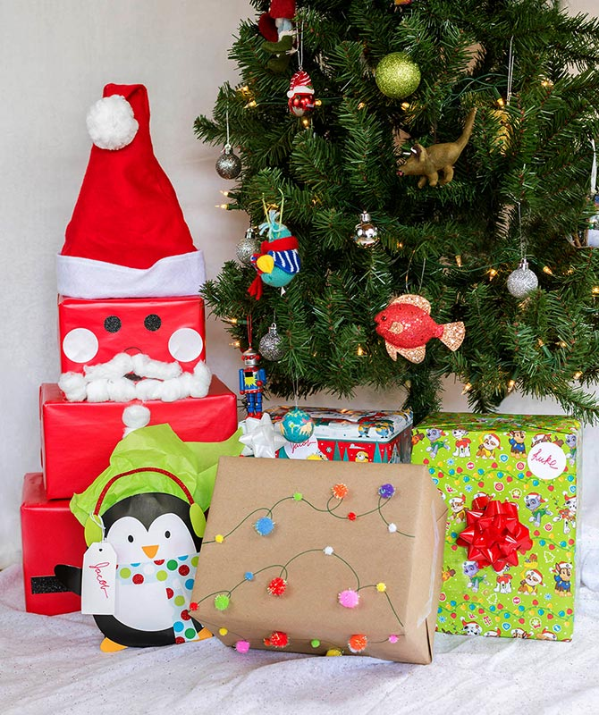 Christmas Ideas For Kids Presents.6 Easy Holiday Gift Wrapping Ideas Walmart Com