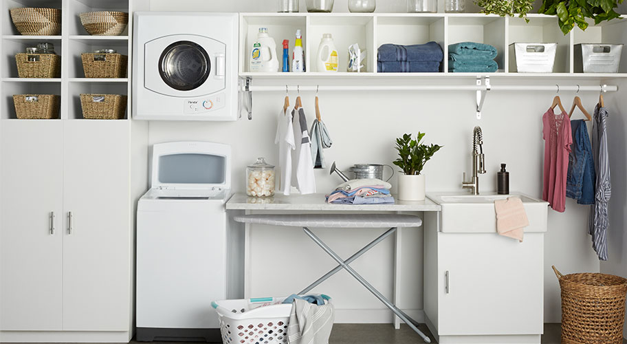 Live big in a little home. Make the laundry room you've always dreamed of a reality with compact washers and dryers that fit in a spare closet or corner but don't sacrifice on power. Shop small appliances and start looking forward to laundry day.