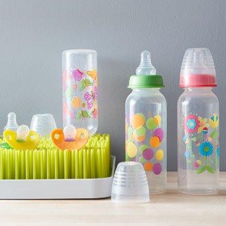 Choose cute & BPA-free baby bottles.