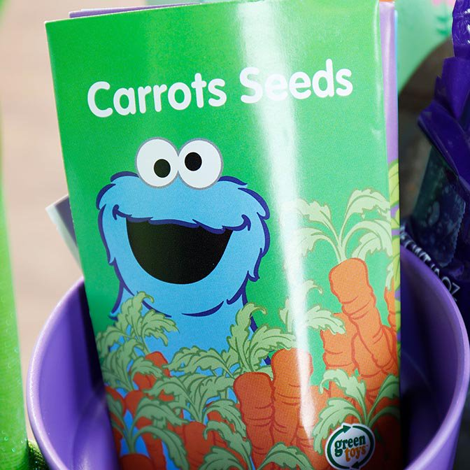 Carrot seeds with Cookie  Monster
