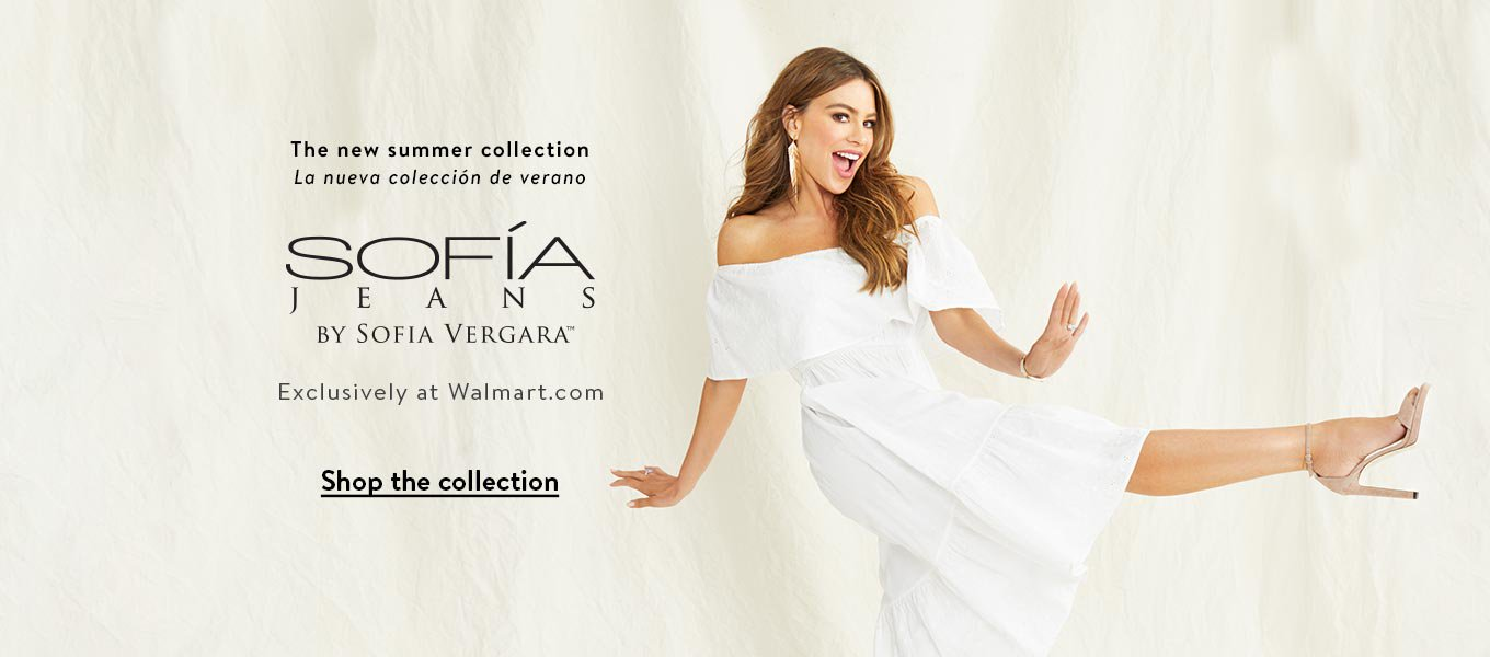 The new summer collection. La nueva colección de verano. Sofía Jeans By Sofía Vergara. Exclusively at Walmart.com.  Shop the collection.