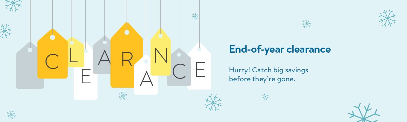 Shop end of the year clearance.