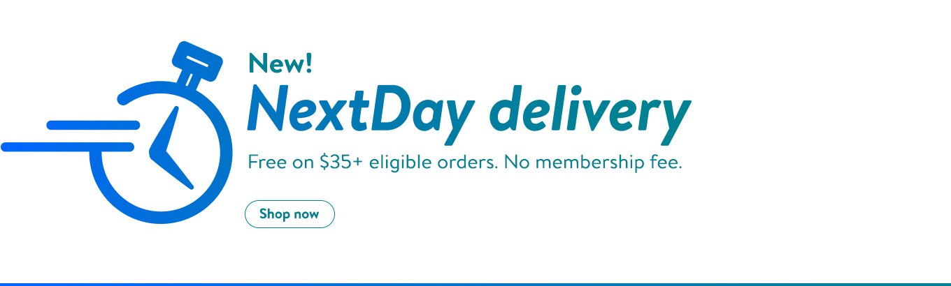 NextDay Delivery. Free on $35+ eligible orders. No membership fee.