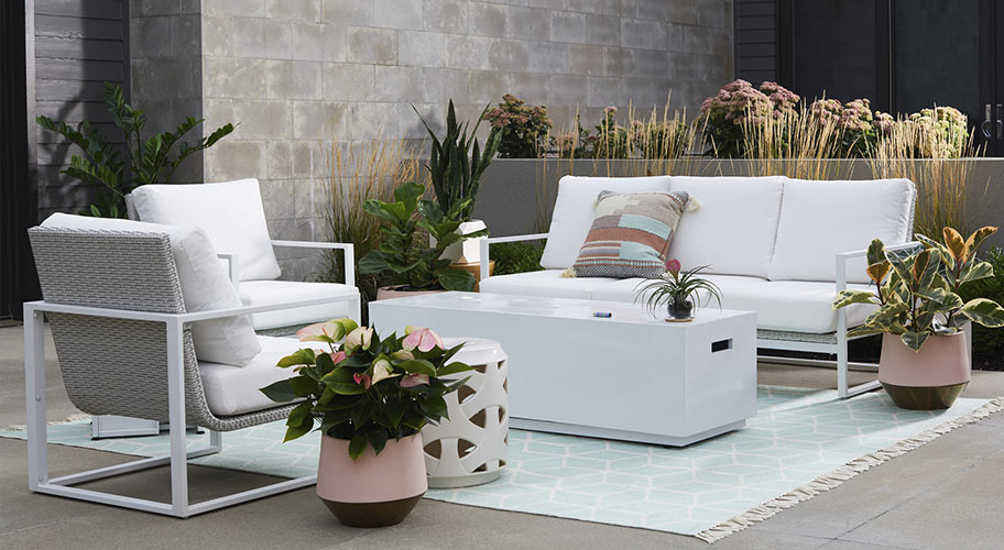 Introducing MoDRN.  Impress neighbors & yourself with an outdoor living space that feels fresh & contemporary. From our exclusive line of modern furniture & decor, discover beautiful on-trend designs that work both inside & out.