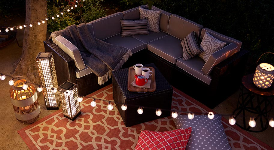 Invite everyone outside after a delicious meal. Too cold, you say - Patio Furniture - Walmart.com