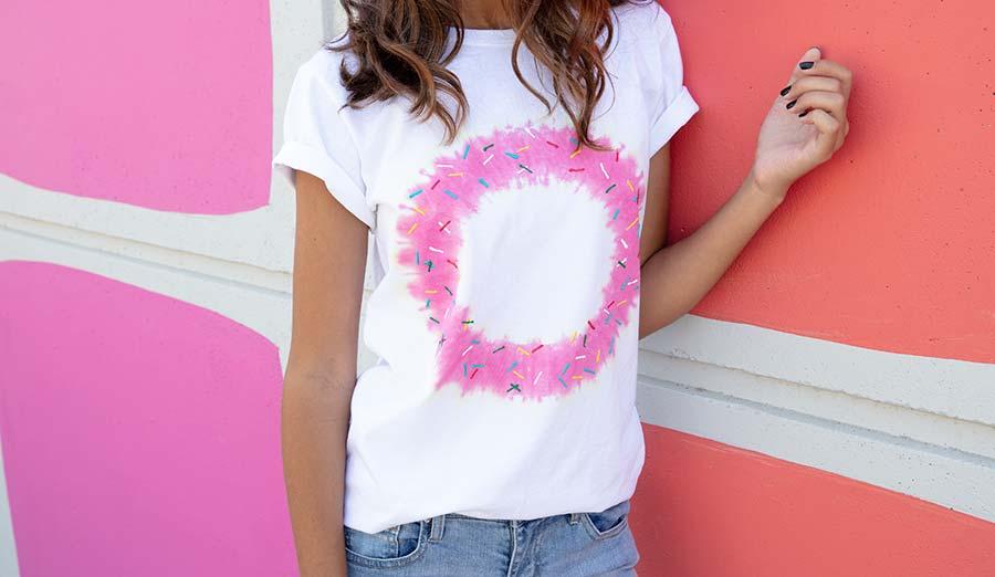 Easy DIY Donut Tie-Dye T-Shirt c1d760f18
