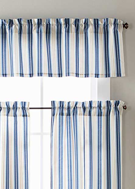 Tiers and valences give your windows a softer look that lends privacy but still lets in the light.