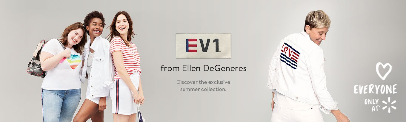 EV1 from Ellen DeGeneres. Discover the exclusive spring collection inspired by love & inclusivity.