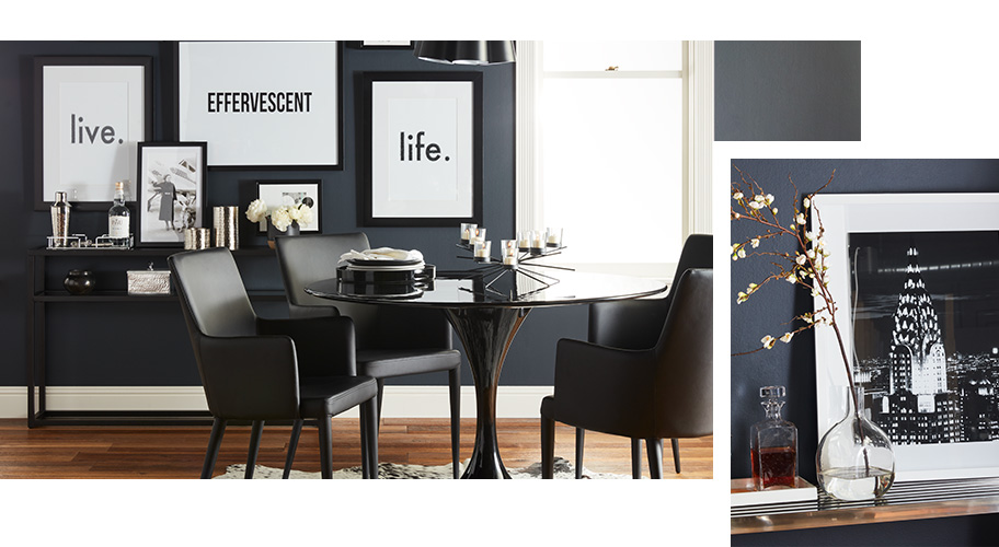 A modern style page of furniture and decor. Links to where to shop for modern home designs.