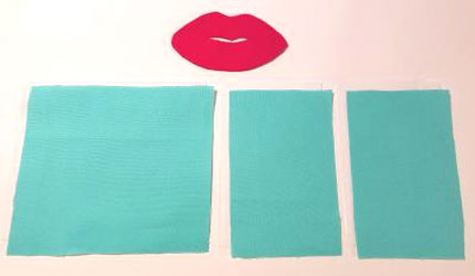 Sewing craft project pin cushion with lips applique walmart