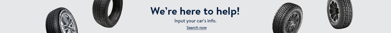 We're here to help! Input your car's info. Search now.