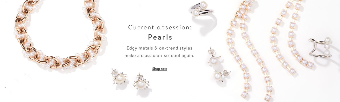 Current obsession: Pearls. Edgy metals & on-trend styles make a classic oh