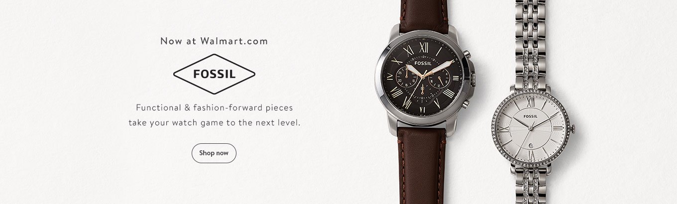Now at Walmart.com: Fossil. Functional & fashion-forward pieces take your watch game to the next level. Shop now.