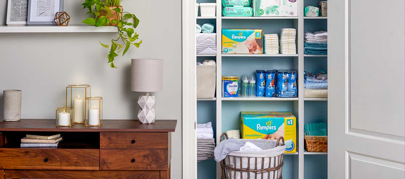 Ready for a restock? Easily replenish diapers, wipes, food & more of your baby's essentials.