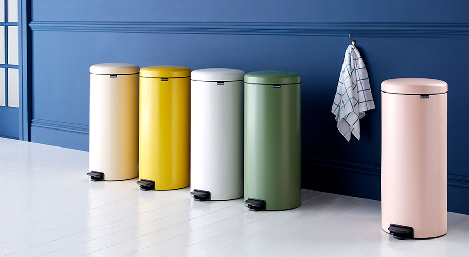 A colorful clean. This is one trash can you won't want to hide