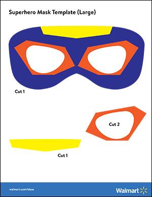 Printable PDF Of Large Superhero Mask