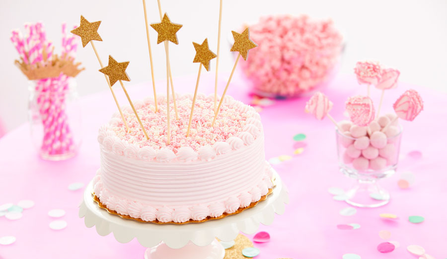 Stars Pearls Pink Princess Cake How To