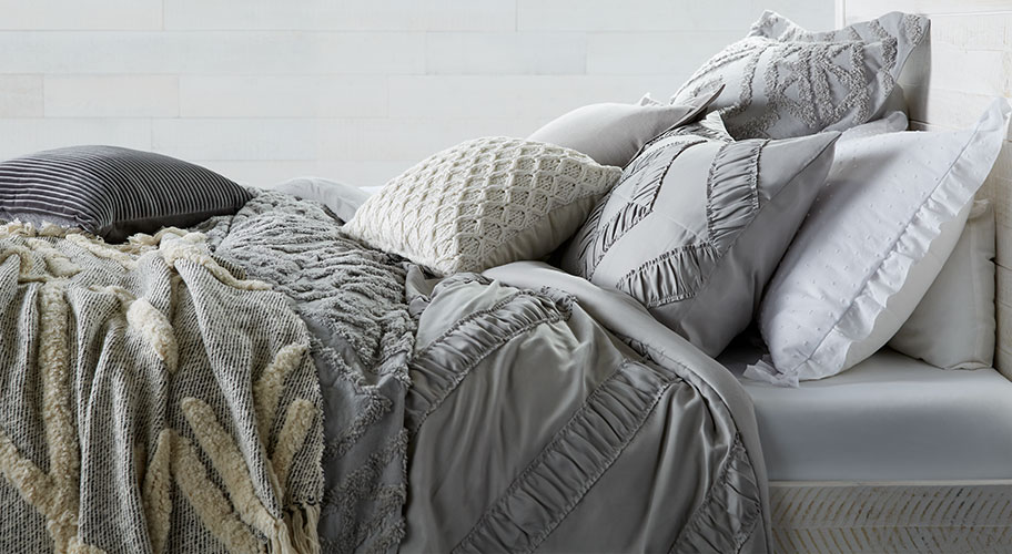 Trendy and comfy. Sleep in stylish, affordable bedding.