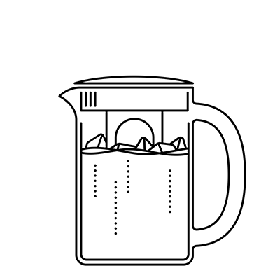Illustration of iced coffee maker