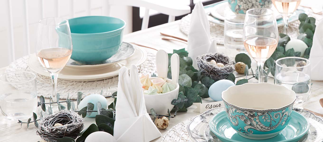 Easter made easy. Your one-hop stop for hosting must-haves in tableware, decor and more.