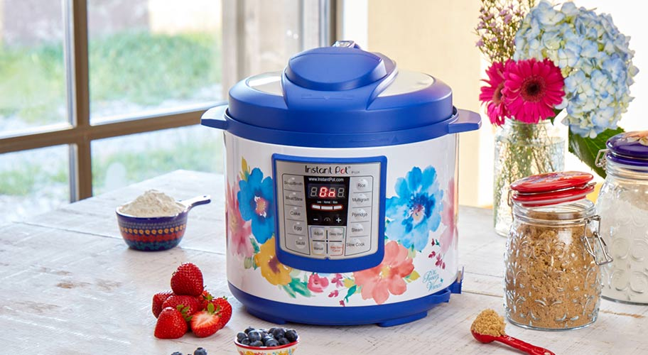 Pretty fast. Create meals faster than ever with an Instant Pot in The Pioneer Woman's signature style. Adorned with vintage florals & bright hues, this unique kitchen must-have is only available at Walmart.