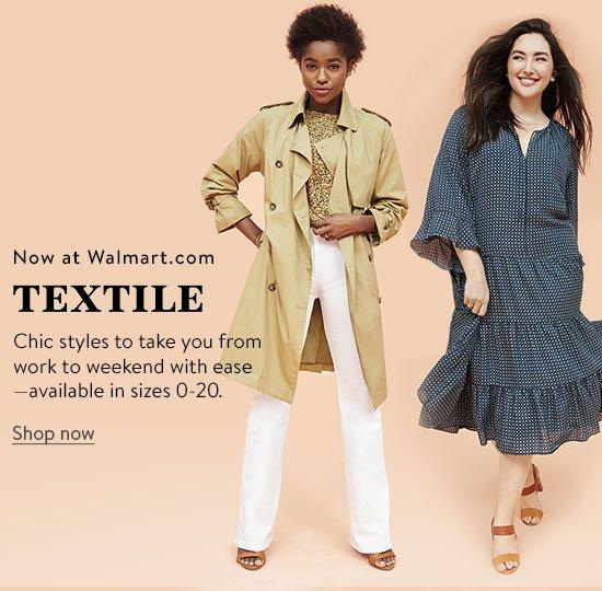 New at Walmart, shop TEXTILE