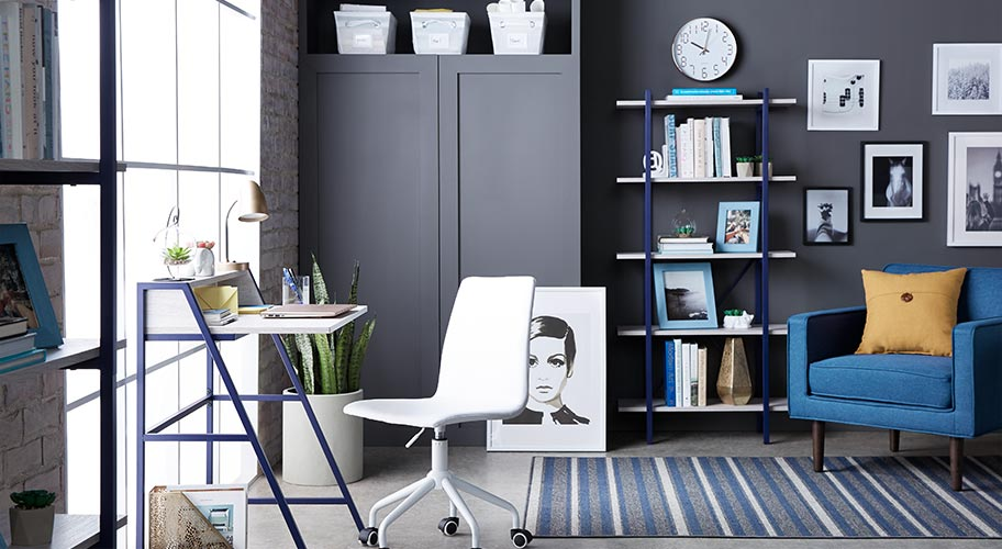 Office table for home White Create Home Office Thats Too Good To Quit With Our Exclusive Walmart Office Furniture
