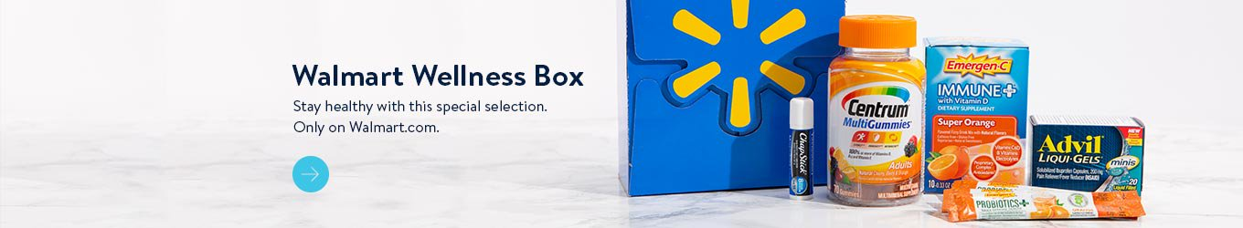 Wellness Box. Stay healthy with this special selection. Only on Walmart.com.
