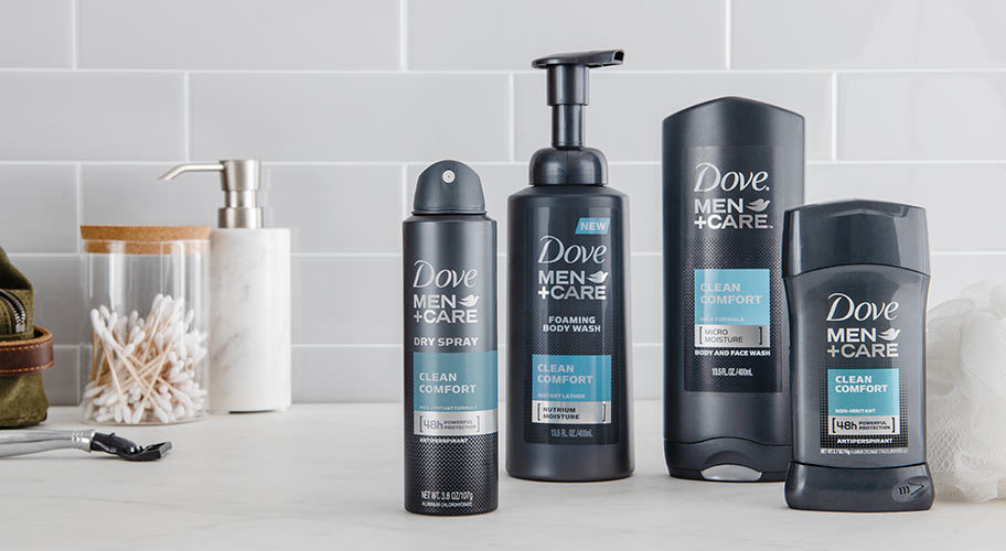 Stay fresh with Dove Men + Care.