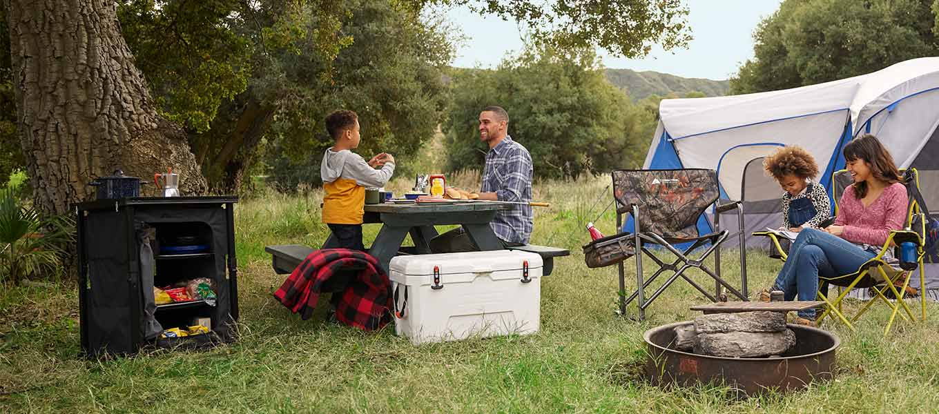 At home outdoors. Take comfort in the wild with quality camping gear and more.