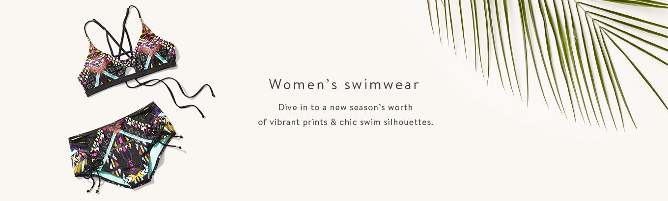 Women's swimwear. Dive in to a new season's worth of vibrant prints & chic swim silhouettes