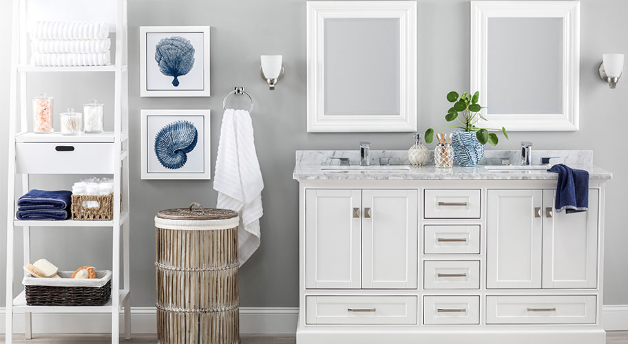 Start fresh. Renew your daily routine with just-in towels and bath accessories. We have everything you need, whether you're adding a new shelving unit or reorganizing with a few pretty countertop jars.