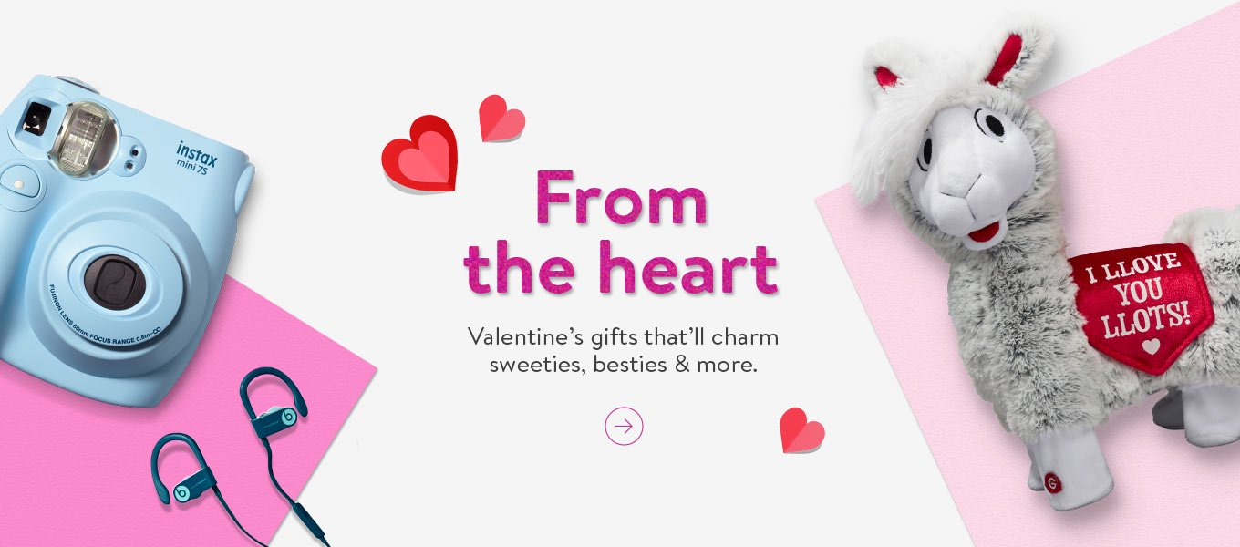 From the heart. Valentine's gifts that'll charm sweeties, besties and more.