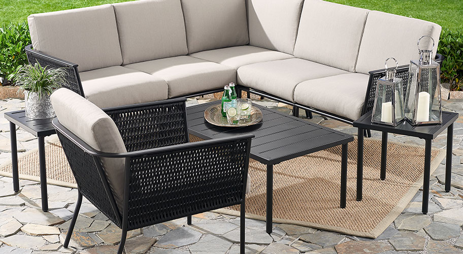 Patio prep.  Turn any outdoor space into the ultimate gathering spot with beautiful decor. Shop comfortable & oh-so stylish new patio lounge & dining furniture that's made for entertaining all season long.