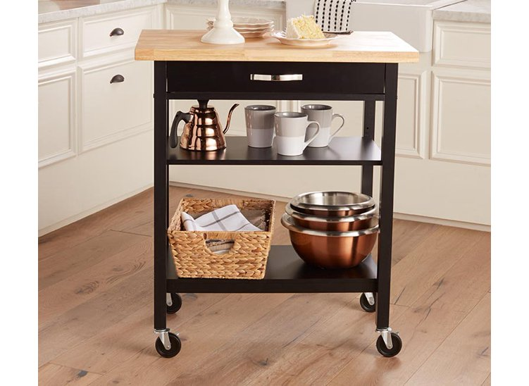 Upgrade your storage & prep space with a bar cart.