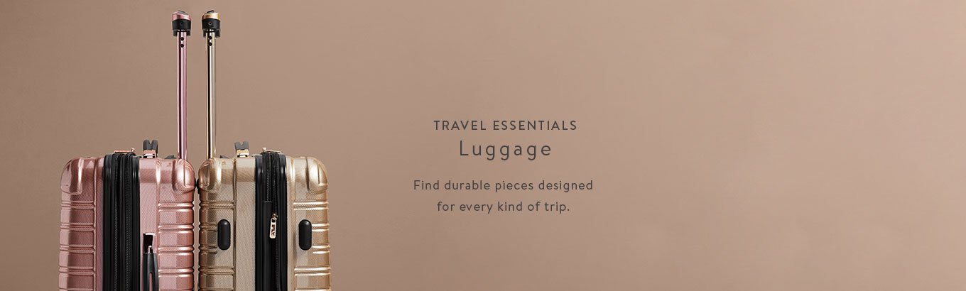 Travel essentials featuring luggage. Find durable pieces designed for every kind of trip.