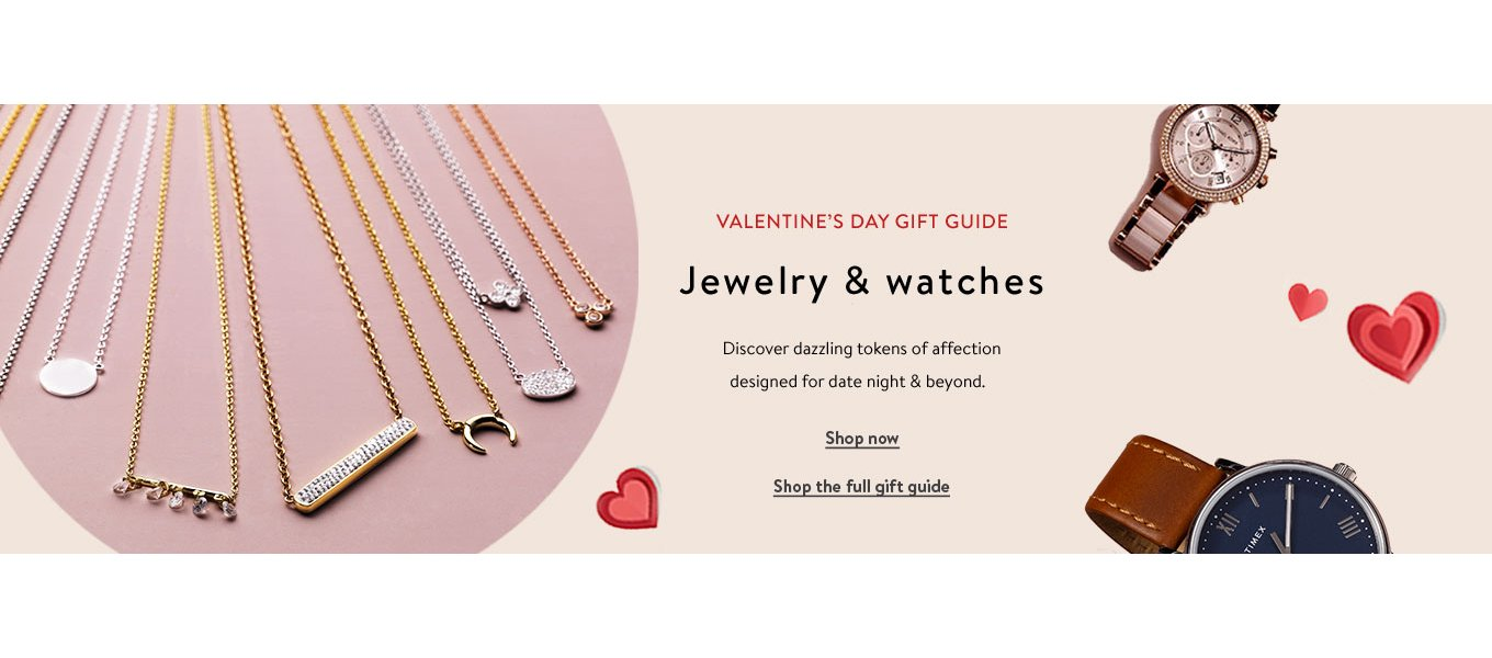 VALENTINE'S DAY GIFT GUIDE featuring jewelry & watches. Discover dazzling tokens of affection designed for date night & beyond. Shop now. Shop the full gift guide
