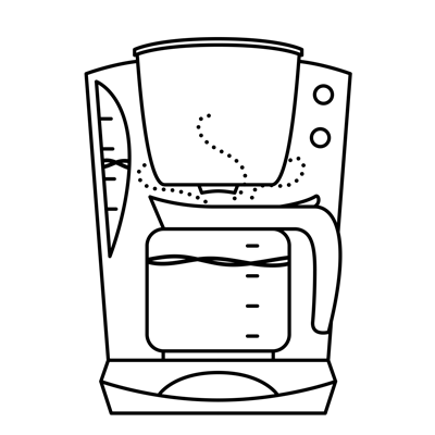 Illustration of drip coffee machine