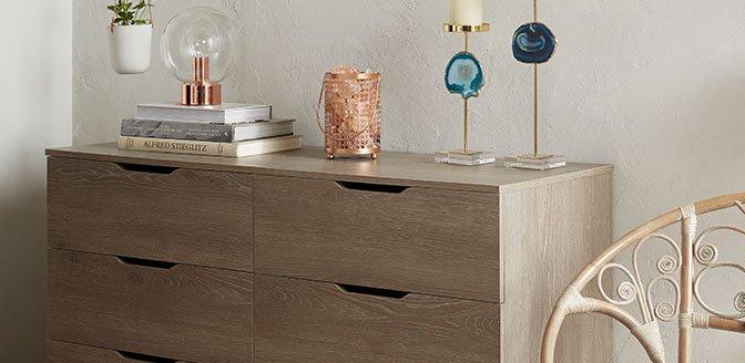 Dressers for streamlined storage